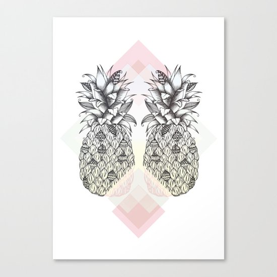 Tropical - Pink Canvas Print
