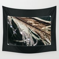 feather Wall Tapestries featuring Feather by Dora Birgis