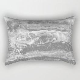 Real Gray Marble Rectangular Pillow