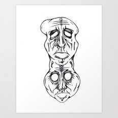 Long Face Art Print