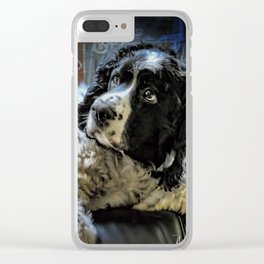 Hunter The Sprocker Clear iPhone Case