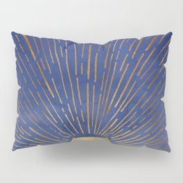 Twilight / Blue and Metallic Gold Palette Pillow Sham