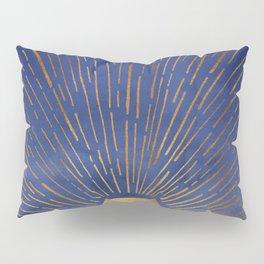 Twilight / Blue and Metallic Gold Palette Pillow Sham