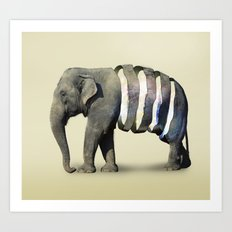 Inner Space Elephant Art Print