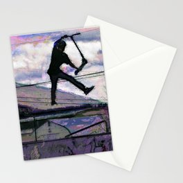 Deck Grab Champion - Stunt Scooter Art Stationery Cards