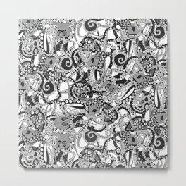 tentacles mono Metal Print