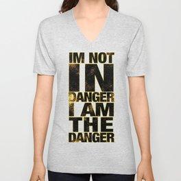 i am danger Unisex V-Neck