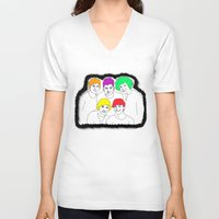 1d V-neck T-shirts featuring 1D punked by Rebecca Bear