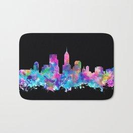 indianapolis city skyline watercolor 5 Bath Mat