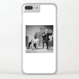 The Master - Nude woman in bdsm setting Clear iPhone Case