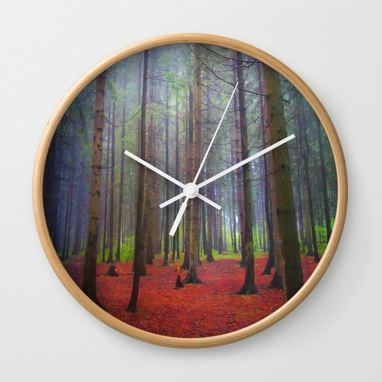 Back to the forest Wall Clock