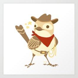 Wild Sparrow Art Print