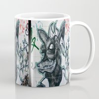 beast Mugs featuring Beast  by Ethna Gillespie