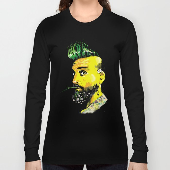 GREEN BEARD Long Sleeve T-shirt