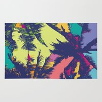 palm tree Area & Throw Rugs featuring Palm tree by PINT GRAPHICS