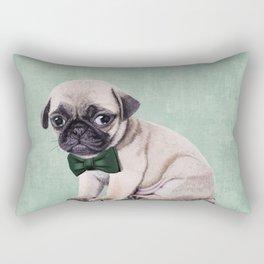 Angry Pug Rectangular Pillow