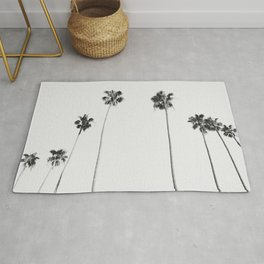 Black & White Palms Rug