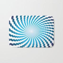 BLUE DOTS ON A WHITE BACKGROUNDAbstract Art Bath Mat
