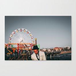 Santa Monica Pier wheel Canvas Print