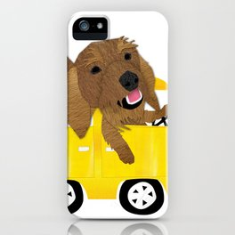 Dogs in a Bus on Vacation iPhone Case