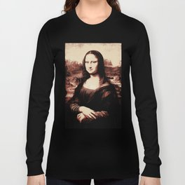 Mona Lisa Vintage Long Sleeve T-shirt