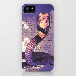 Purple cobra iPhone Case