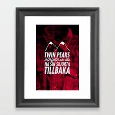 Twin Peaks Ringde Framed Art Print