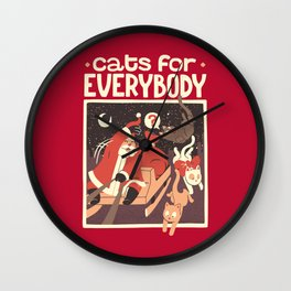 Cats for Everybody Wall Clock