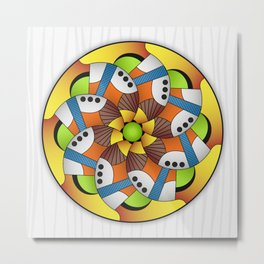 Mandala Horn Metal Print