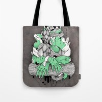 mona lisa Tote Bags featuring Mona Lisa by Gaetan billault