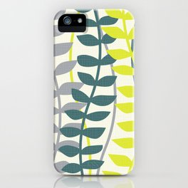 seagrass pattern - teal and lime iPhone Case