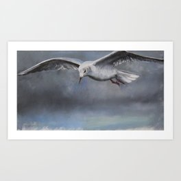 The seagull Art Print