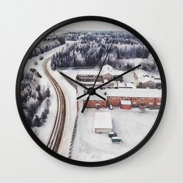 Winter view from the sky Wall Clock