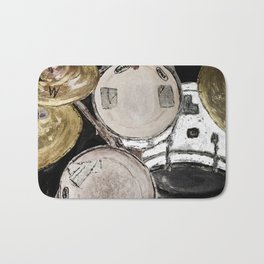 drum set, ready to rock Bath Mat