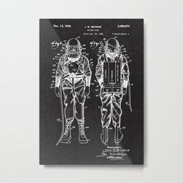 Diving Suit Patent Metal Print