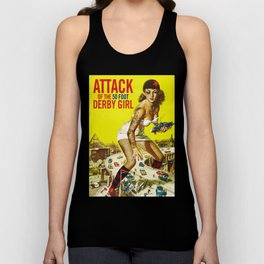 Attack of the 50 Foot Derby Girl Unisex Tank Top