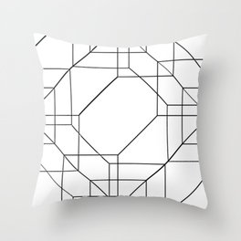Geometric Glitch Lines - Blow Up Throw Pillow