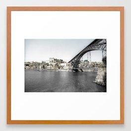 OPORTO BY THE BRIDGE (PORTUGAL) Framed Art Print