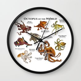Octopus of the World Wall Clock