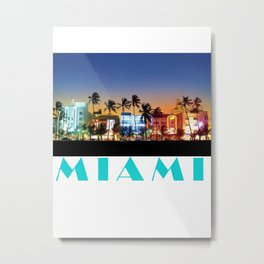 South Beach Metal Print