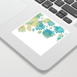 White floral splash Sticker