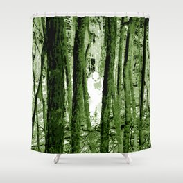 """""""Ghost in the Aokigahara Fores"""" Shower Curtain"""