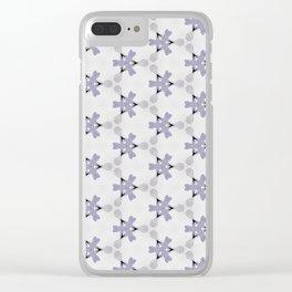 Multi Purple Pattern Design Clear iPhone Case