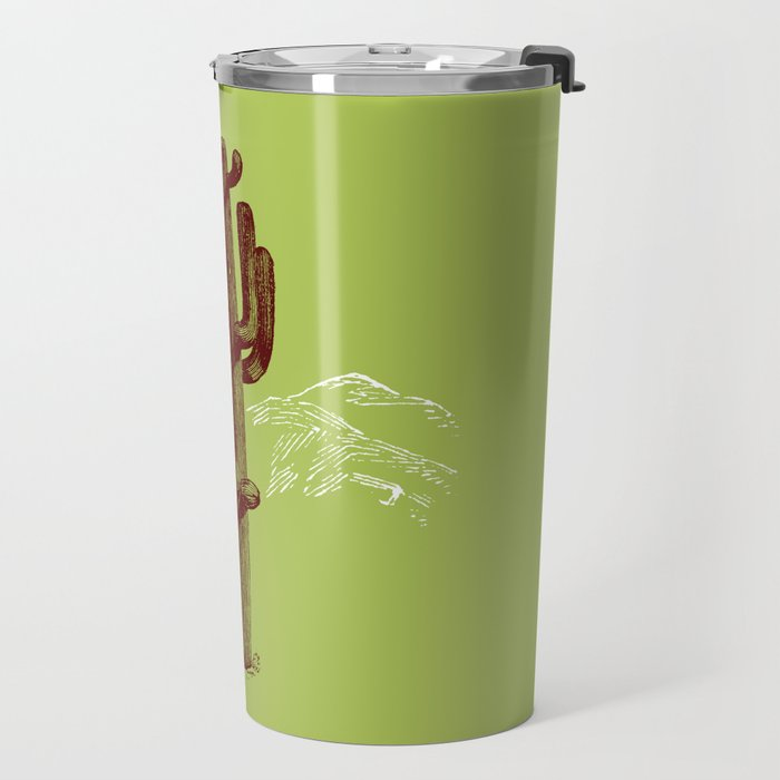 cactus y nieve Travel Mug