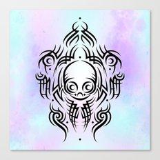 Alien Tribal Tattoo Canvas Print