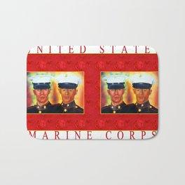 Like Father, Like Son... Once A Marine, Always A Marine Bath Mat