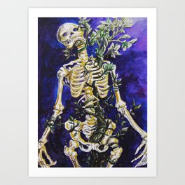Skeleton of Life Art Print