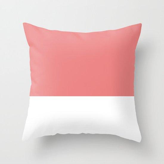 Salmon top Throw Pillow