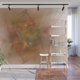 Folds In Muted Rainbow Wall Mural