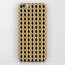 Trendy Leaf Diamond Stripes iPhone Skin